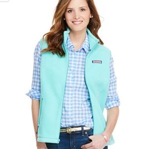 Vineyard Vines Aqua Fleece Vest